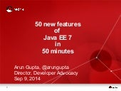 50 features of Java EE 7 in 50 minutes at JavaZone 2014