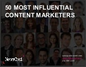50 Most Influential Content Marketers