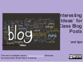 50 interesting ideas_for_class_blog...