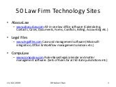 50 Law Firm Technology Sites