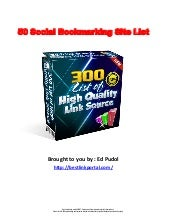 50 social bookmarking site list