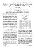 Realizing Potential of Graphite Powder in Enhancing Machining Rate in AEDM of Nickel Based Super Alloy 718