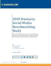 2009 Business Social Media Benchmar...