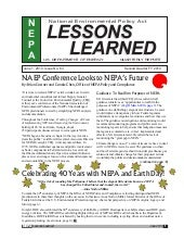 June 2010 - DOE-NEPA Lessons Learned