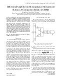 Differential Amplifiers in Bioimpedance Measurement Systems: A Comparison Based on CMRR