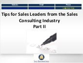51 tips from a Sales Consultancy.  Part II
