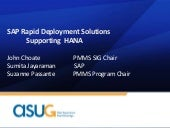 RDS Supporting SAP HANA