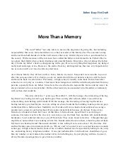 More Than a Memory second draft