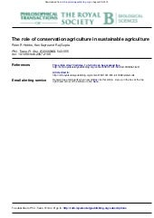 The Role of Conservation Agricultur...