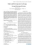 Study and Development of an Energy Saving Mechanical System