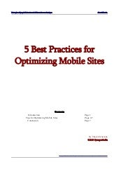 5 best practices for optimizing mobile sites by shamit khemka