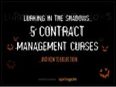 5 Contract Management Curses
