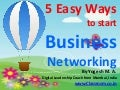5 Easy Ways to start Business Networking