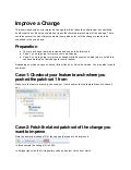 Git Tutorial EclipseCon France 2014 - Gerrit Exercise 5 - improve a change