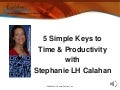 5 Keys to Time & Productivity