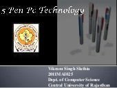 5 Pen PC Technology (P-ISM)