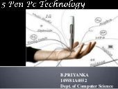 5 pen pc technology ppt for seminor
