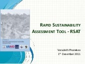 Rapid Sustainability Assessment Too...