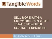 5 powerful selling techniques - Tan...