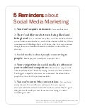 Five Reminders about Social Media Marketing