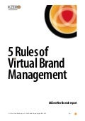 The 5 Rules of Virtual Brand Management