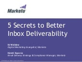 5 Secrets to Better Inbox Deliverab...