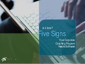 Is It Time? Five Signs Your Corporate Coaching Program Needs Software