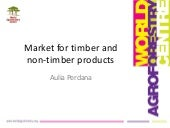 Market for timber and non-timber products