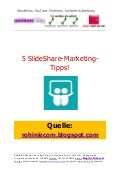 5 SlideShare-Marketing-Tipps