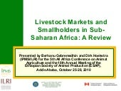 Livestock markets and smallholders...