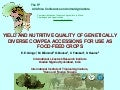 Yield and nutritive quality of genetically diverse cowpea accessions for use as food-feed crops