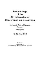 5th International Conference on E L...