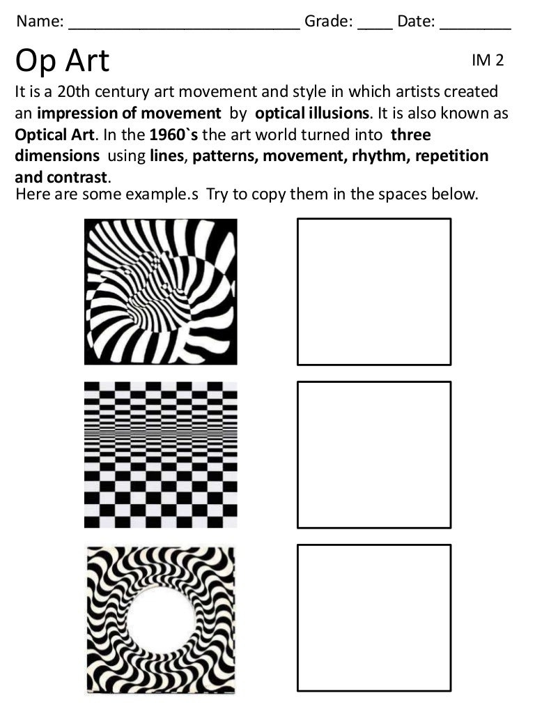 Worksheets Op Art Worksheet op art lessons tes teach 5th 3bim 2012