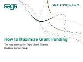 Five Tips for Maximizing Grants
