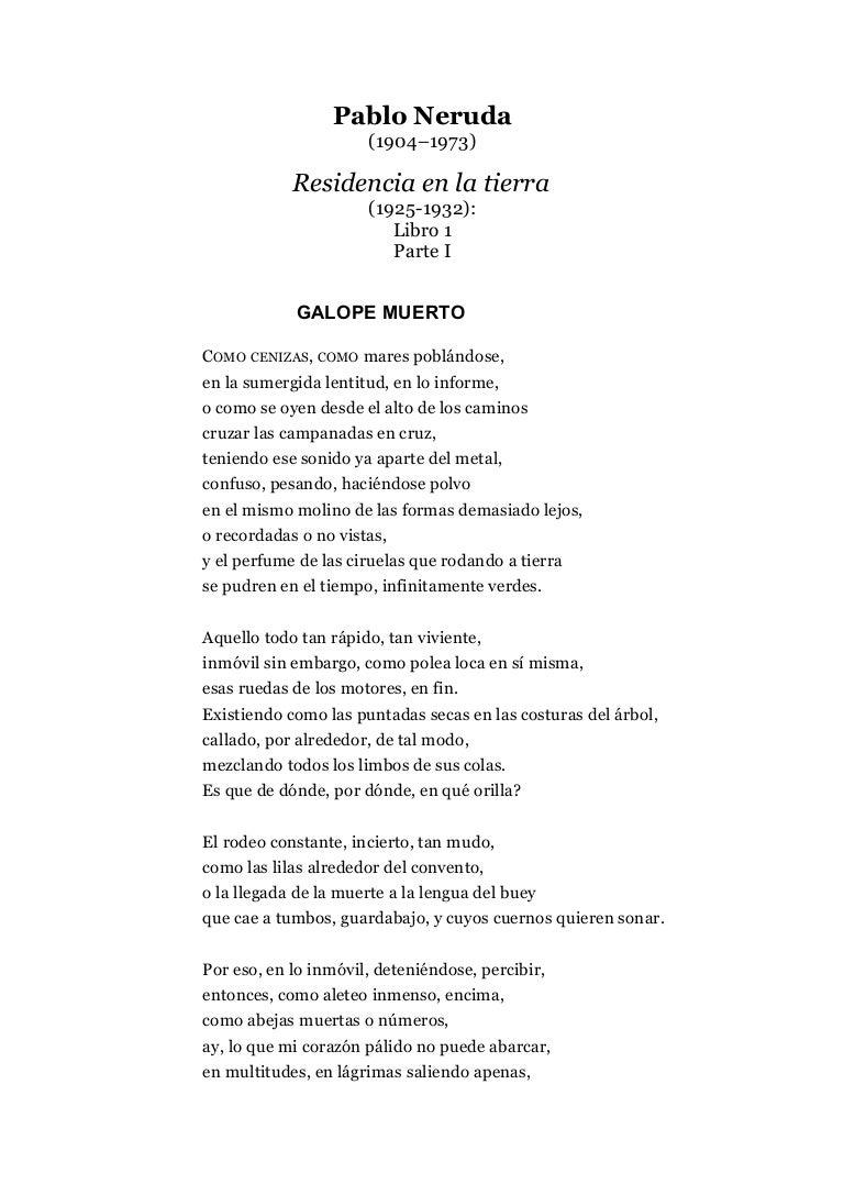 Descargar Libro Residencia En La Tierra De Pablo Neruda Free Download