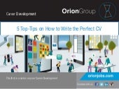 5 top tips on how to write the perfect cv