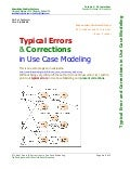 Typical Errors & Corrections in Use Case Modeling