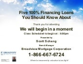 Five 100% Financing Loans You Shoul...