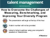 How to Overcome the Challenges of Measuring, Benchmarking, and Improving Your Diversity Program