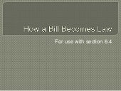 How a Bill Becomes a Law (6.4)