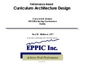Performance-based Curriculum Archit...