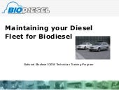 Biodiesel Fleet Maintenance