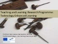 Teaching and Learning Research Programme Technology Enhanced Learning (TLRP(TEL))