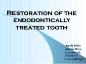 6.restoration of the endodontically...