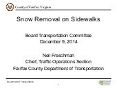 Snow Removal On Sidewalks