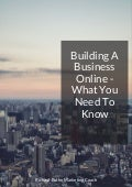 Building an online business - the right way