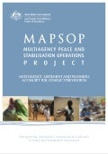 Multiagency Assessment and Planning: A Concept for Conflict Prevention