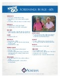 Recommended Screenings by Age - 60s