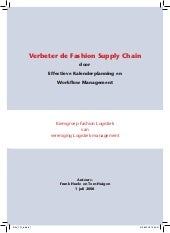 Verbeter Fashion Supply Chain planning