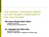 How Teacher Intervention Affects Pr...